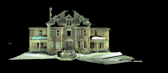 3D Scanning Point Cloud of a Historic House